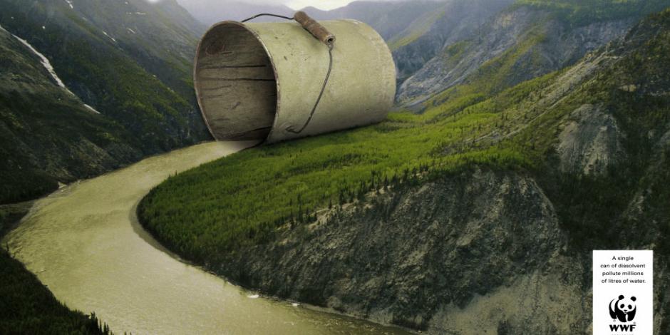 10. Одна банка растворителя загрязняет миллионы литров воды (WWF)