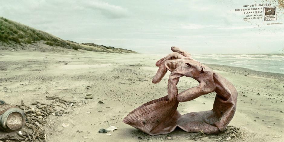 9. К сожалению, пляж не очищает себя сам (США)