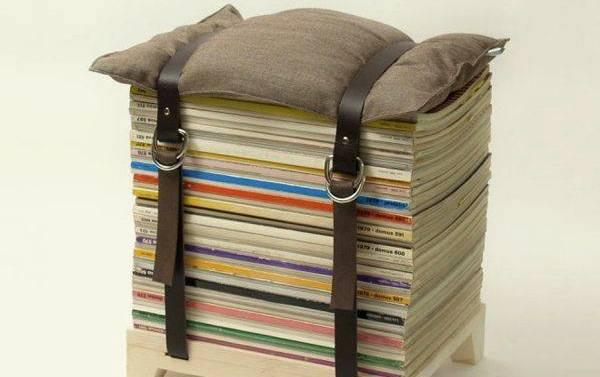 Московский Городской Библиотечный Центр собирает журналы для создания стульев