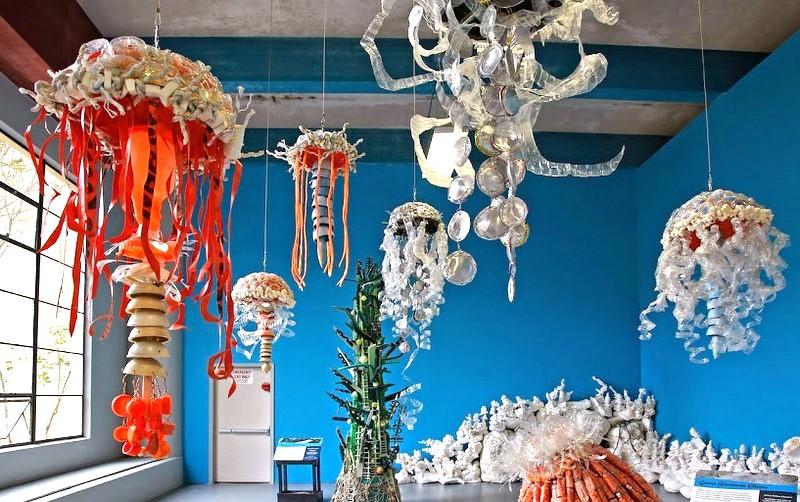 В американском зоопарке появились медузы из мусора