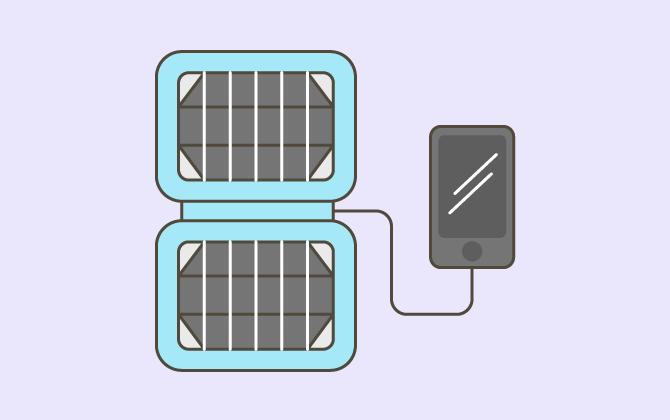 Заряжайте телефон от компактной солнечной батареи