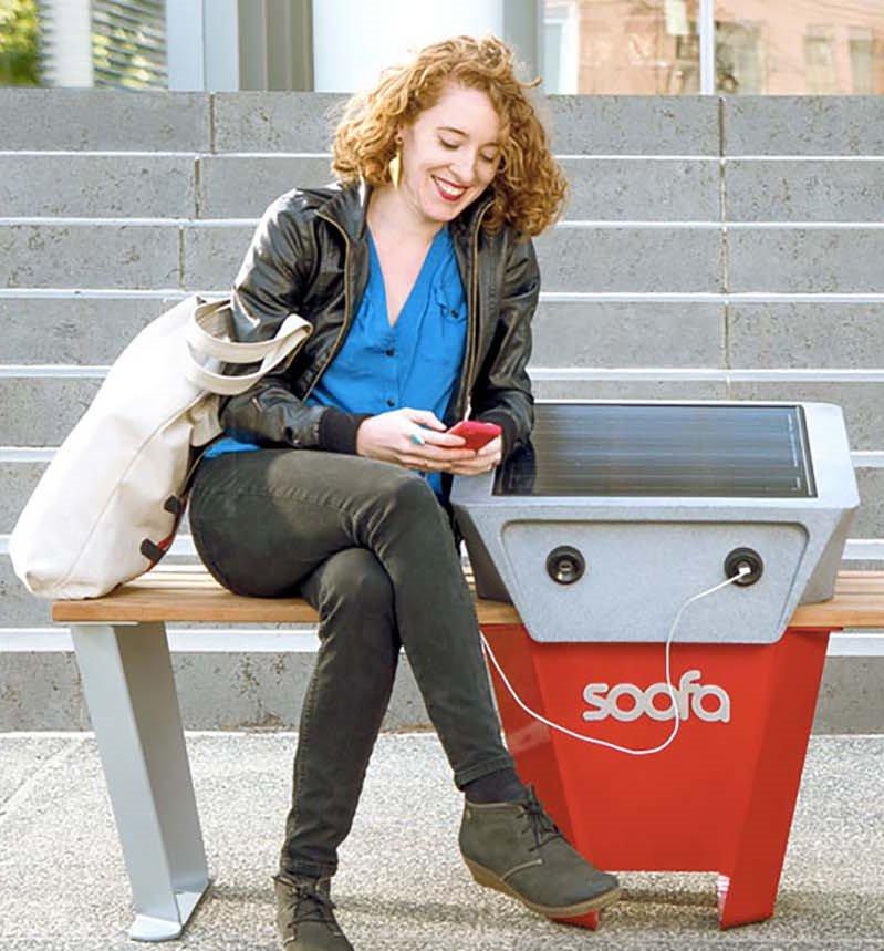 В Праге появится скамейка на солнечных батареях