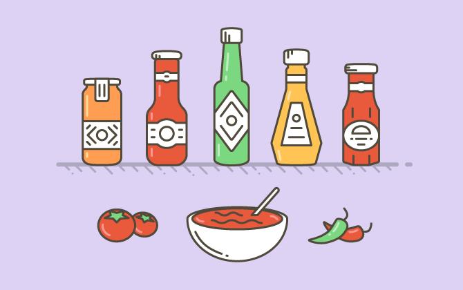 Выбирайте соусы в стеклянной бутылке