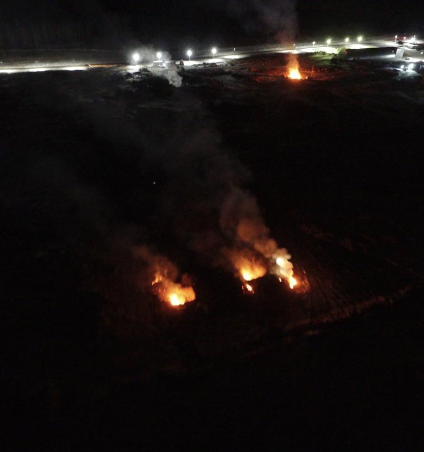 На мусорном полигоне под Челябинском по ночам сжигают отходы
