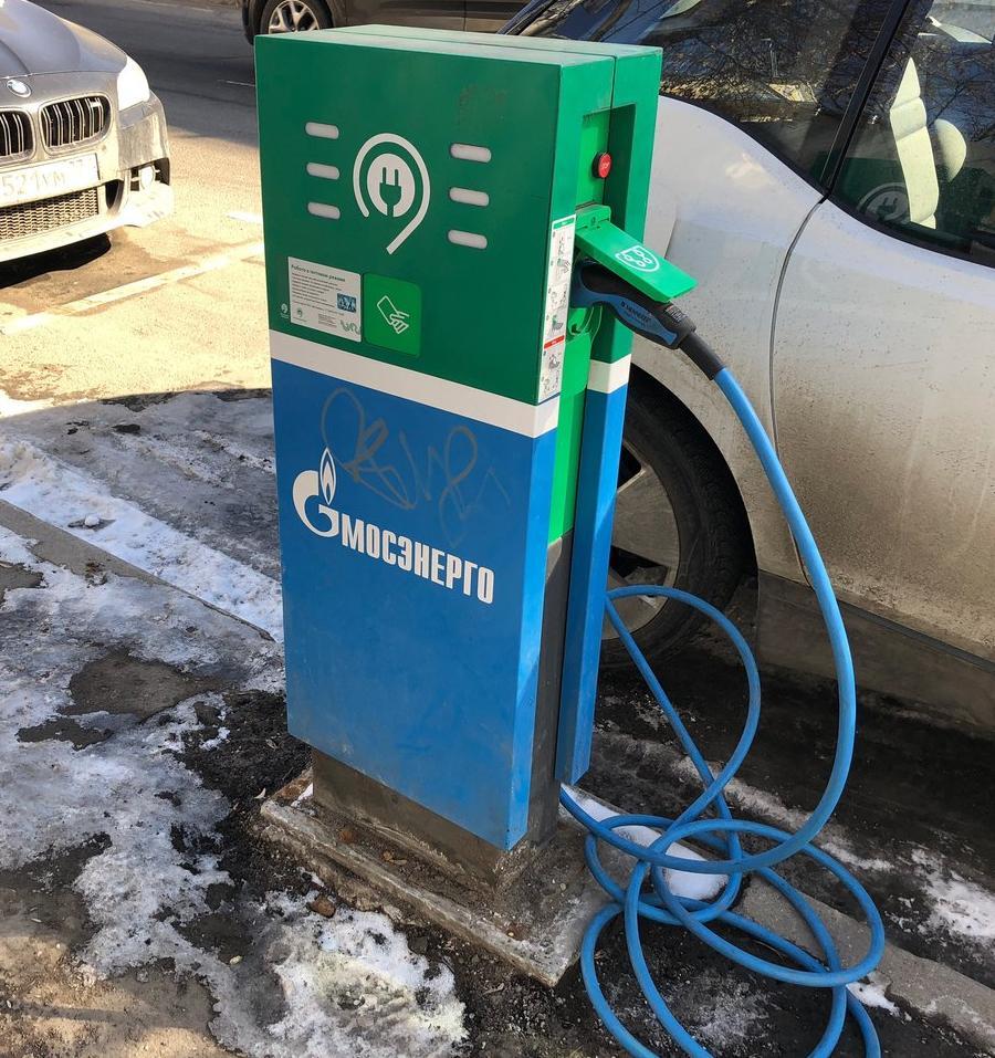 В Москве установят 600 новых «зарядок» для электромобилей