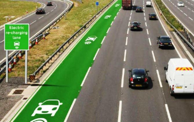 В Британии построят трассу, заряжающую электромобили во время движения