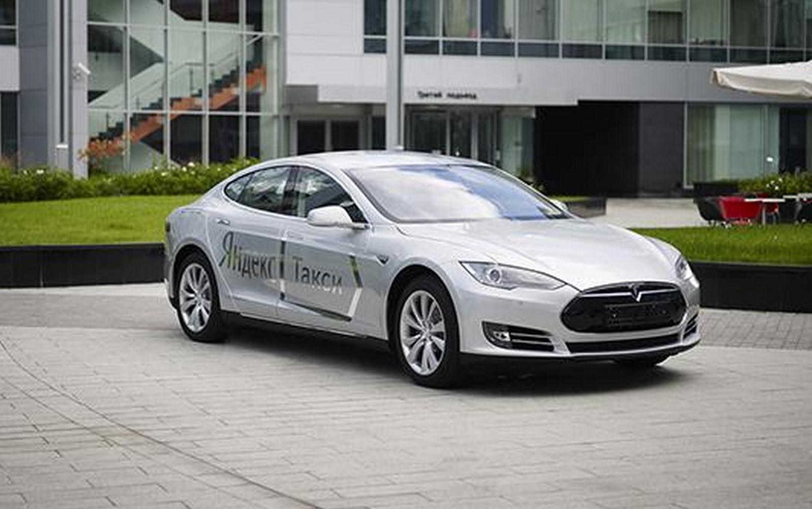 В автопарке «Яндекс.Такси» появились два электромобиля Tesla