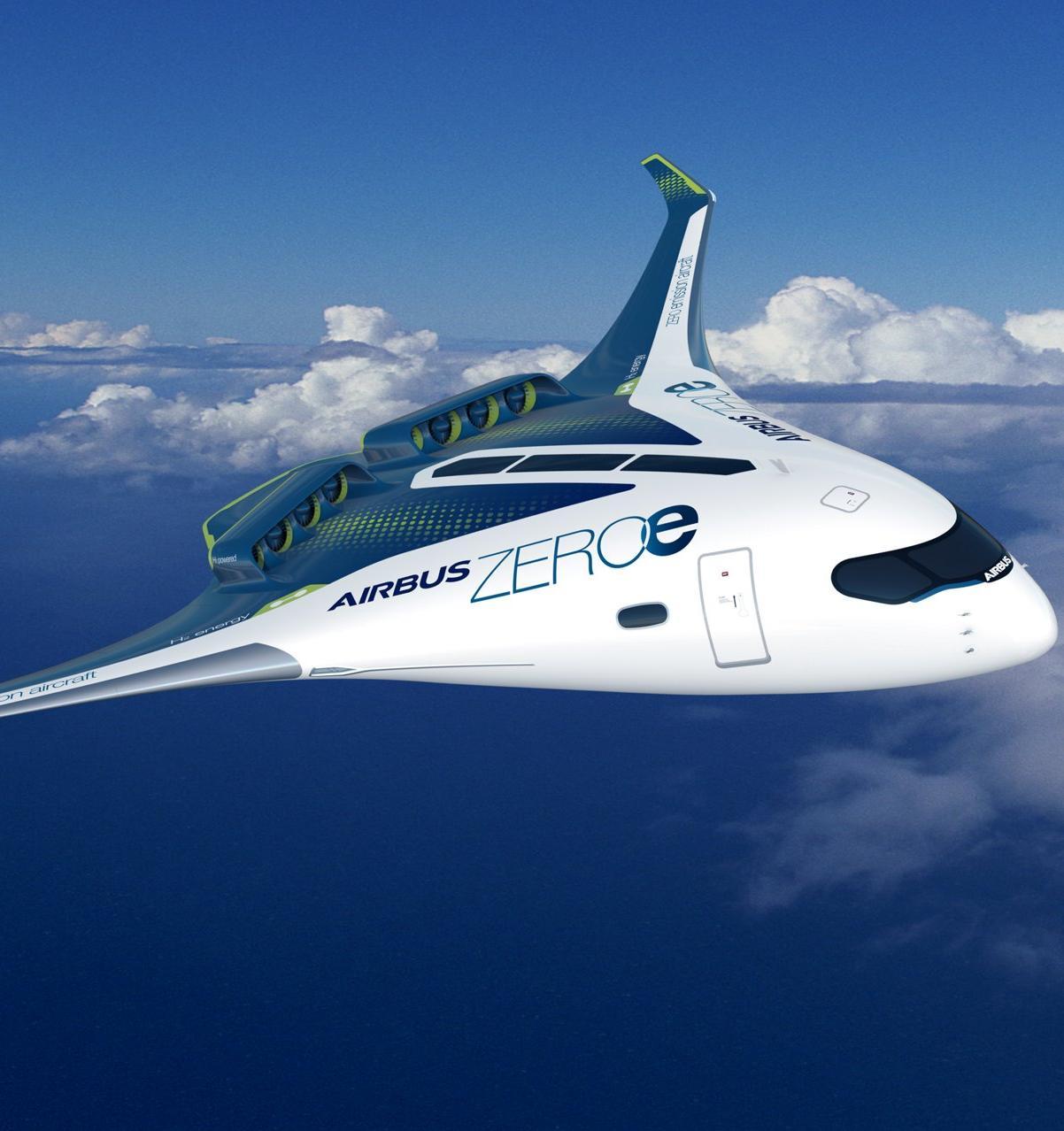 Airbus представил концепт самолета на «чистом» топливе