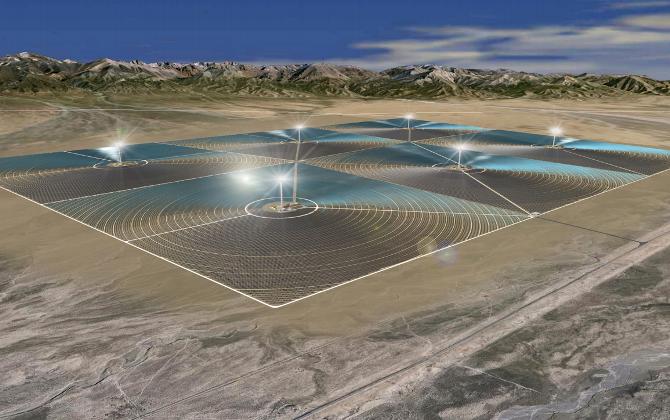 В пустыне Гоби построят башни из солнечных батарей