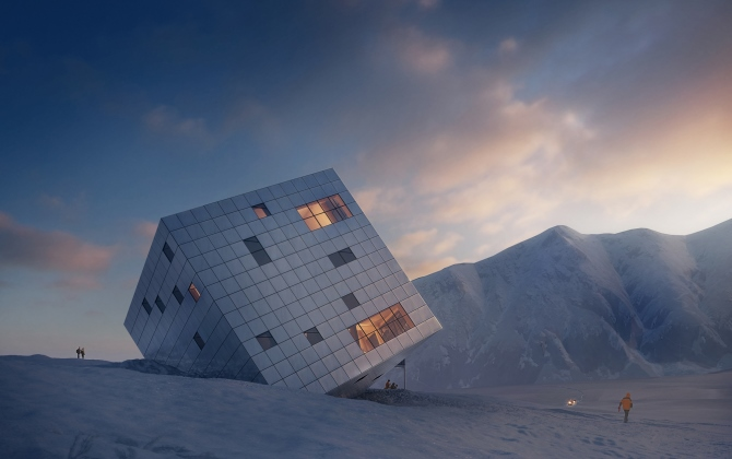 В Словакии построят отель-куб на солнечных батареях