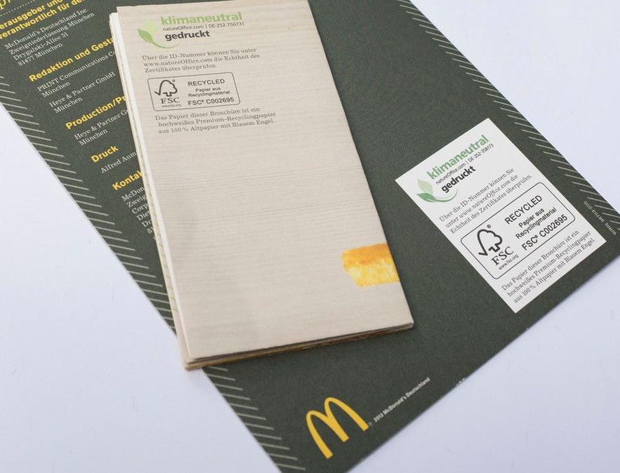 Вся бумажная упаковка «Макдоналдс» теперь сертифицирована FSC
