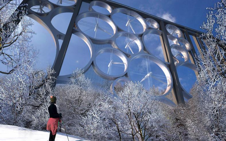 Идея дня: солнечно-ветряная электростанция на мосту