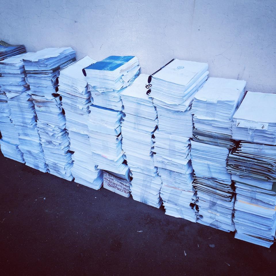 Recycle и школа №57 за два дня собрали 700 кг макулатуры