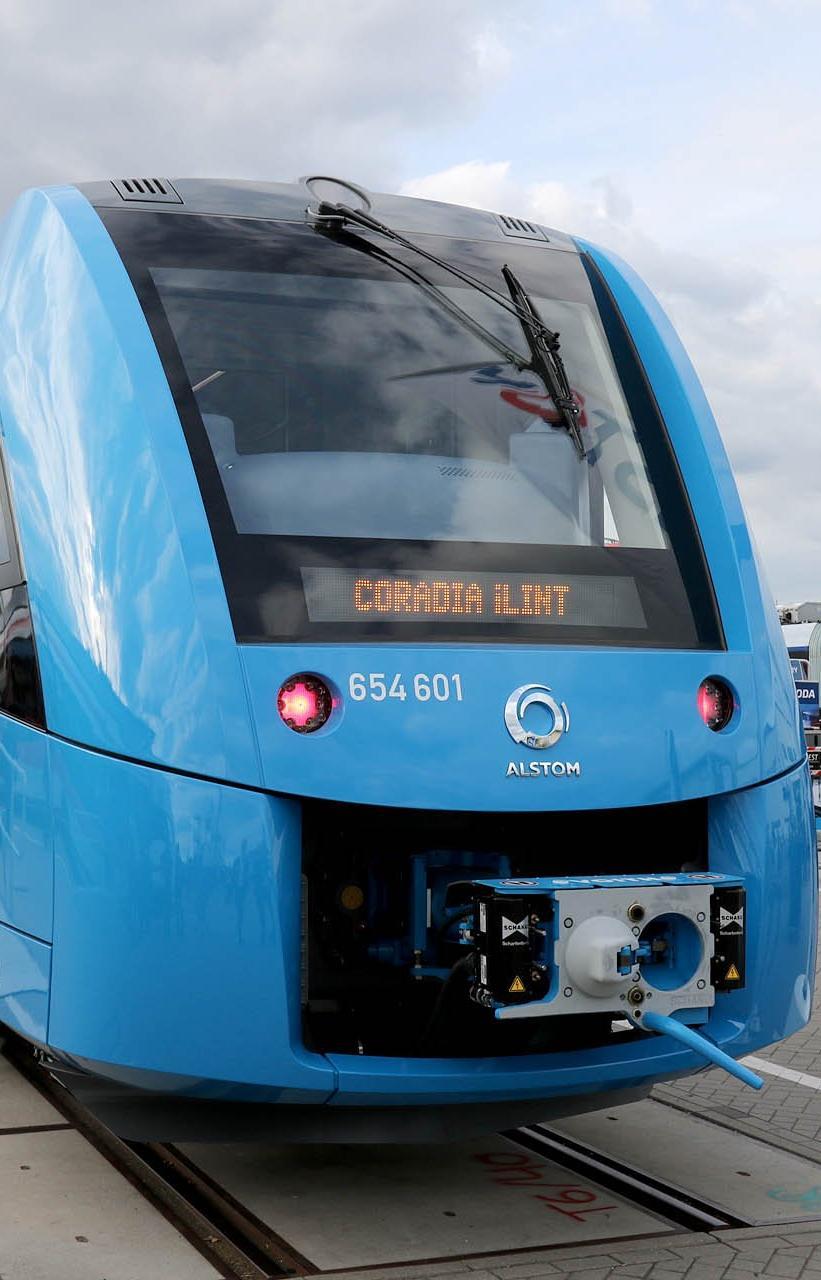 В Германии тестируют первые поезда на водородном топливе