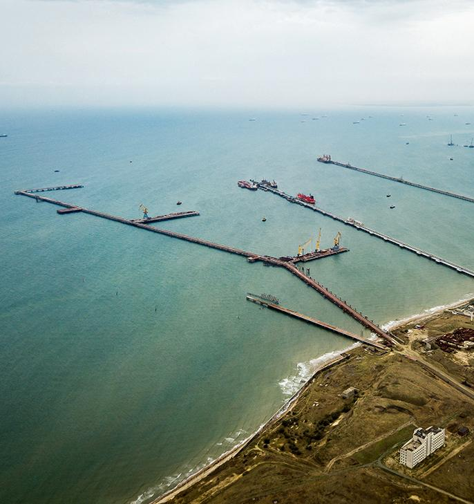 Над портом Тамань регулярно образуются облака угольной пыли