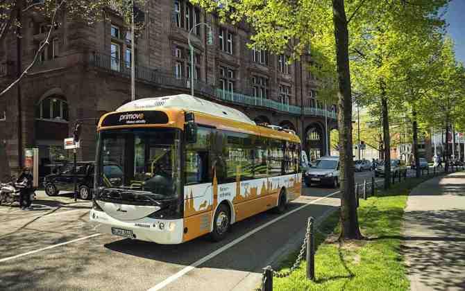 В Берлине появится экомаршрут с электробусами и системой беспроводной зарядки