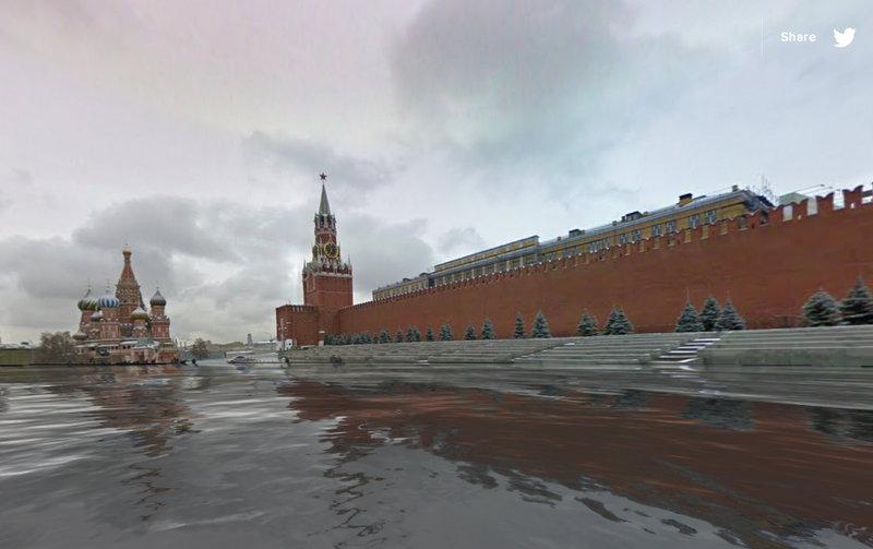 Крупнейшие столицы мира ушли под воду в проекте World Under Water для Google Chrome