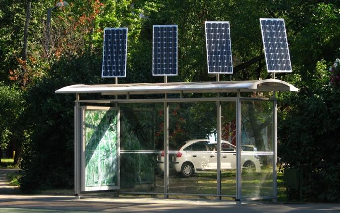 На остановках Крыма появятся солнечные батареи