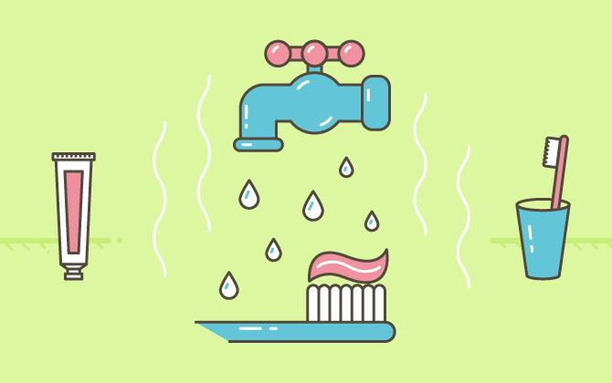 Выключайте воду, когда чистите зубы
