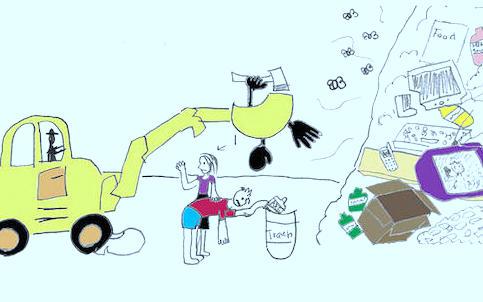Дети нарисовали решение проблемы переработки мусора