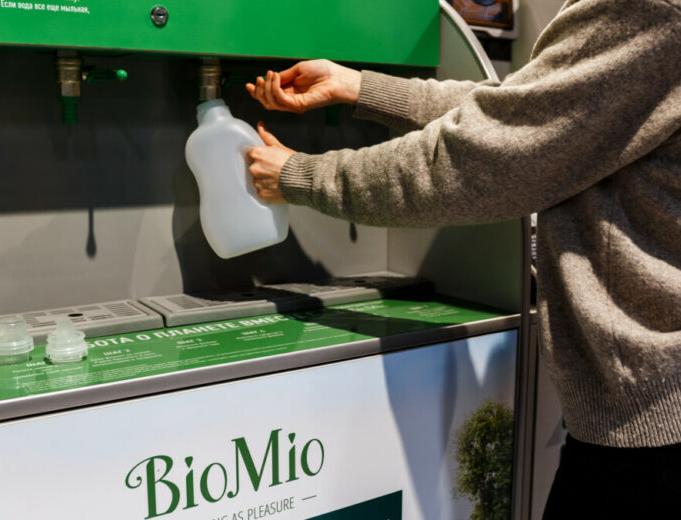 «Перекрёсток» запустил в Петербурге розлив бытовой химии в многоразовые бутылки