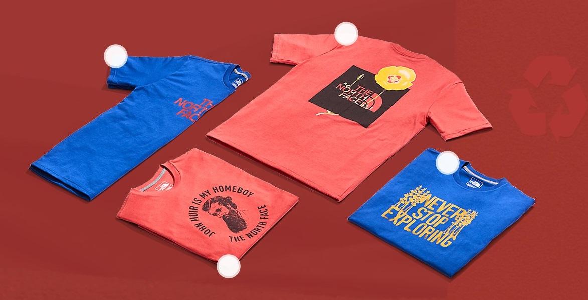 North Face выпустила футболки и сумки из переработанного пластика