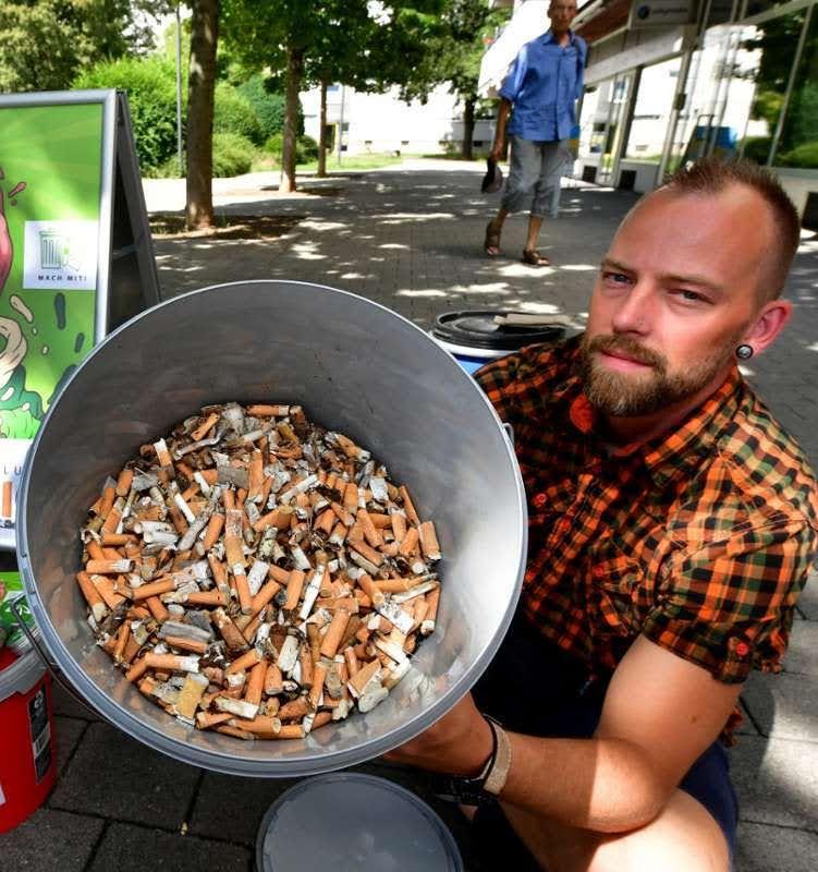 Как в Германии перерабатывают окурки
