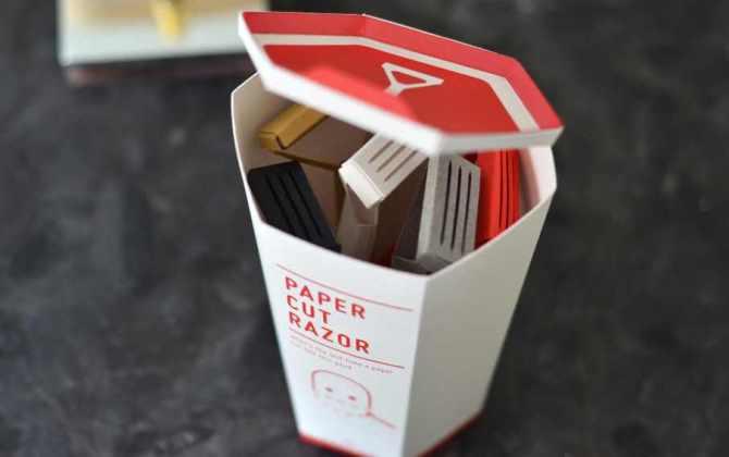 Дизайнер разработал бритвенные станки из бумаги
