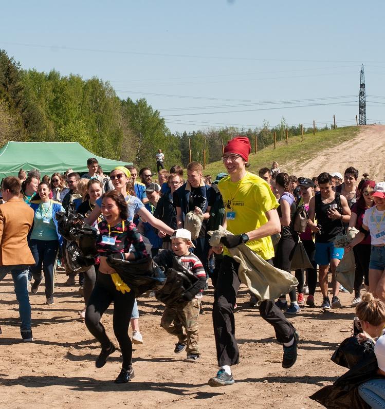 Участники экоквеста в Санкт-Петербурге собрали 15 тонн мусора за 1,5 часа