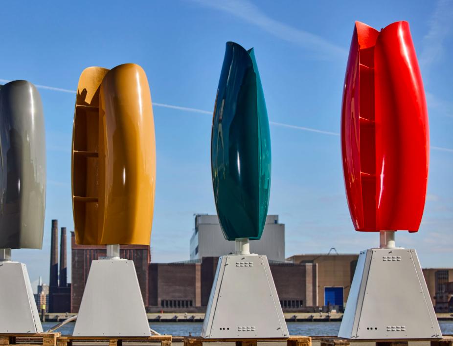 Посмотрите на ветряные электростанции в форме тюльпанов