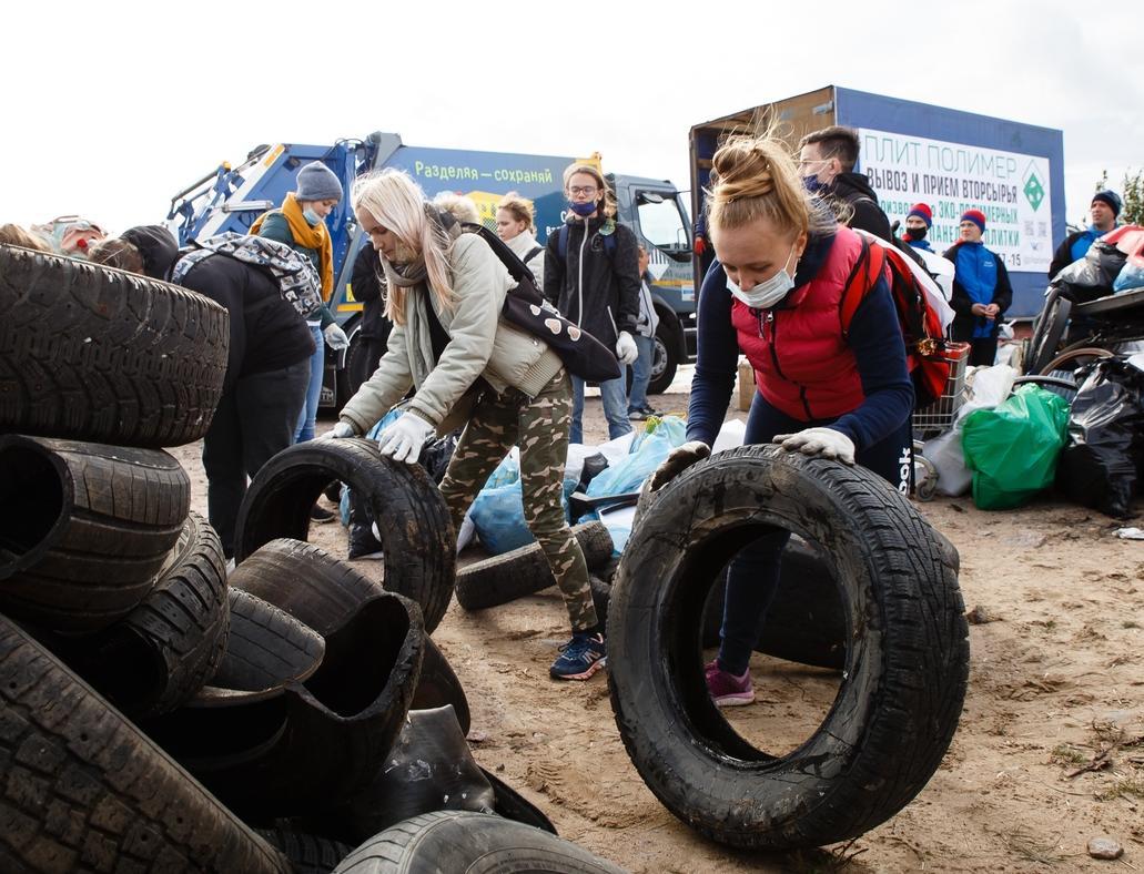 Экоактивисты собрали более 500 мешков мусора с южного побережья Финского залива