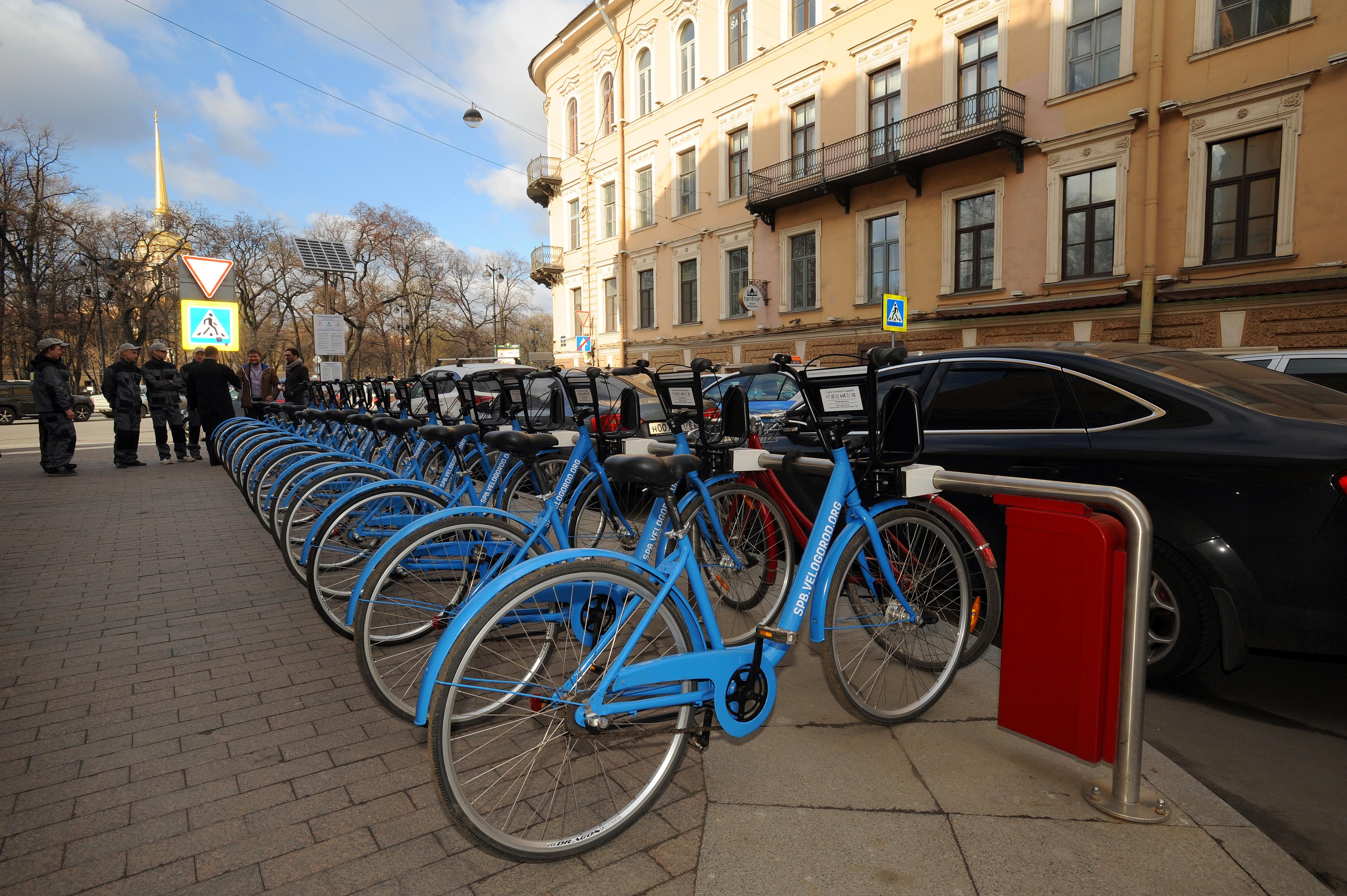 Названы новые цены на велопрокат в Санкт-Петербурге