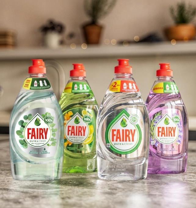 Продукция Fairy Pure&Clean получила экологический сертификат международного уровня