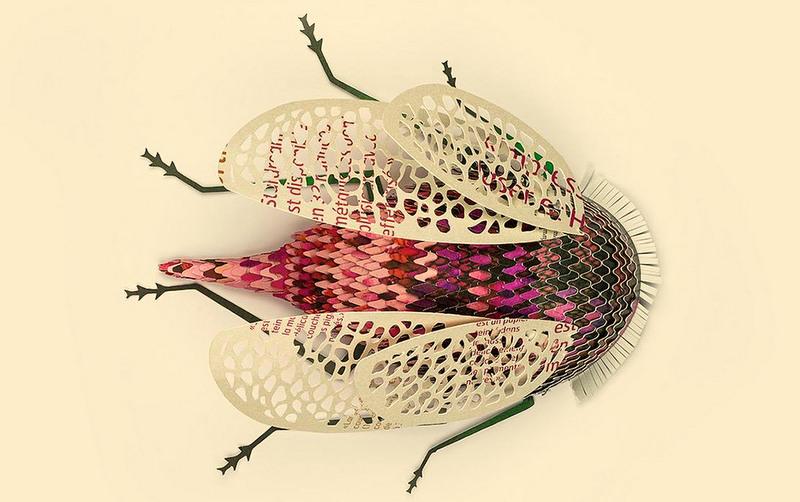 Вещь дня: насекомые из переработанной бумаги