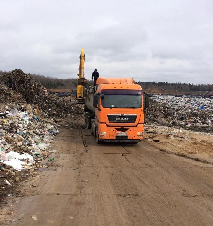 В Московской области ликвидируют свалку рядом с деревней Щелканово