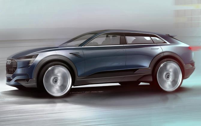 Audi представит кроссовер с электродвигателем на автосалоне в сентябре