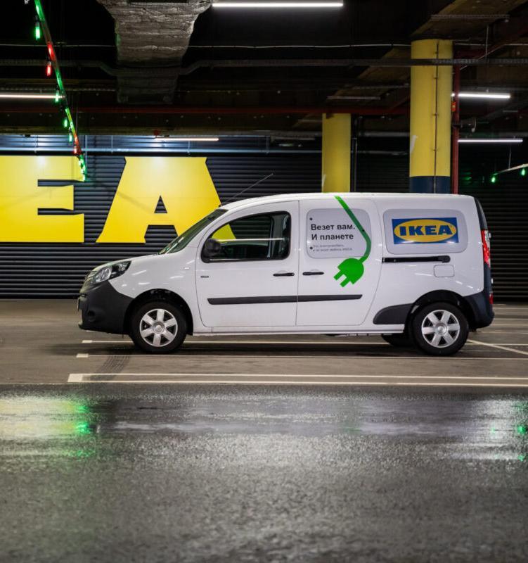 ИКЕА в Санкт-Петербурге начала доставку товаров электромобилями