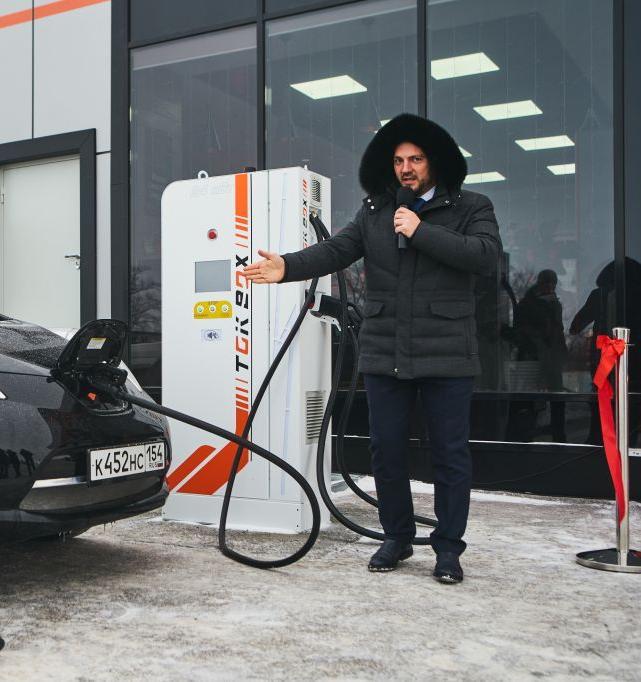 В Новосибирской области появилась первая заправка для электромобилей