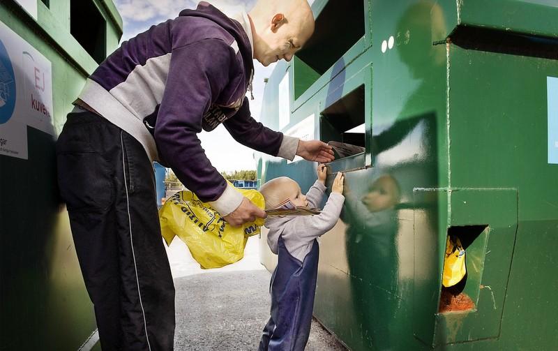 Факт дня: Швеция перерабатывает 99% всех своих отходов