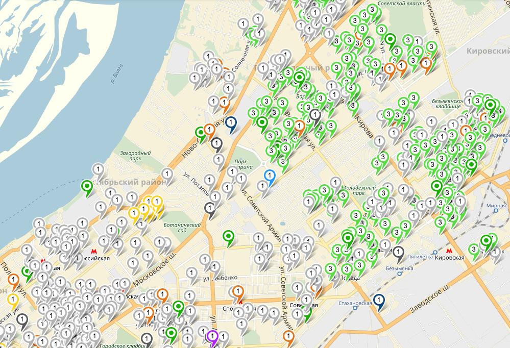 Активистка нанесла 600 пунктов приема вторсырья на карту Самары