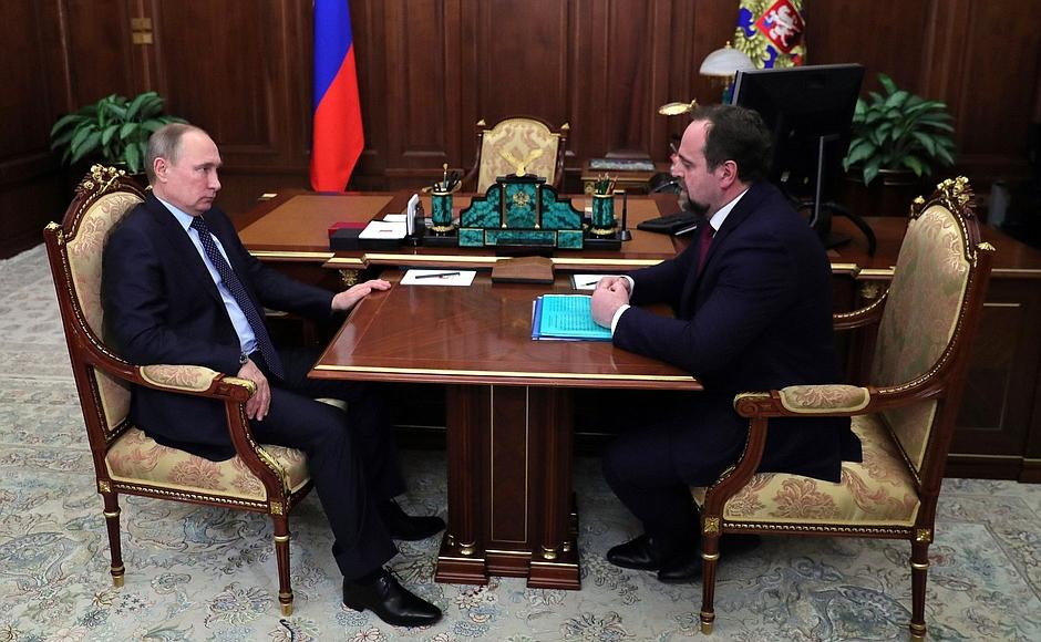 Что обсудили на встрече Владимир Путин и министр экологии РФ Сергей Донской