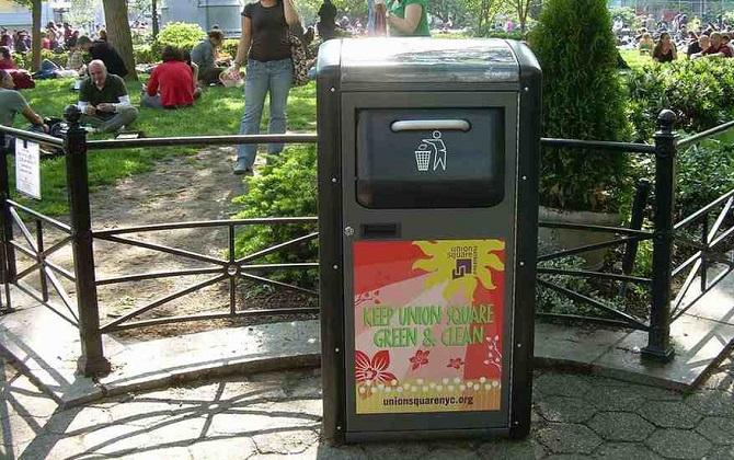 В Нью-Йорке появились урны, которые перерабатывают мусор