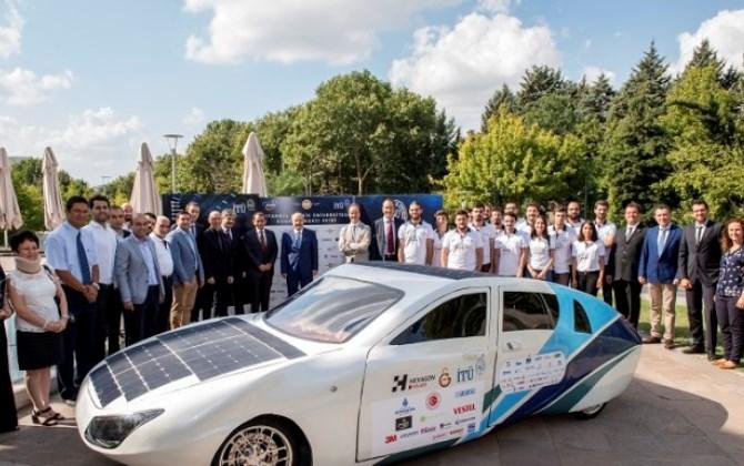 Седан на солнечных батареях представили в Стамбуле