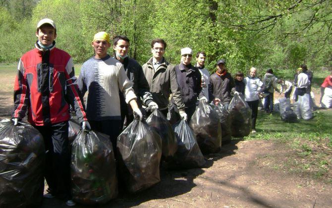 Уборка с раздельным сбором мусора пройдет в Санкт-Петербурге