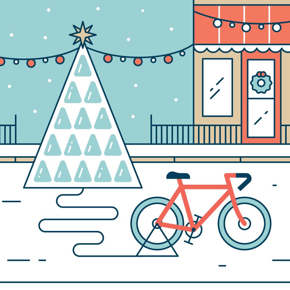 Рождественскую эко-елку в Москве зажгут от велосипеда с генератором электроэнергии