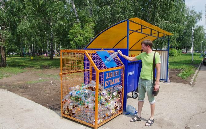 Контейнеры для сбора пластиковых бутылок установили во дворах Ставрополя