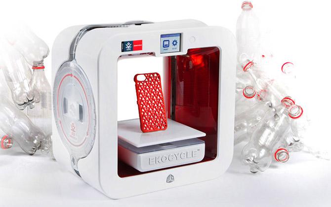 Как работает 3D-принтер на бутылках Coca-Cola